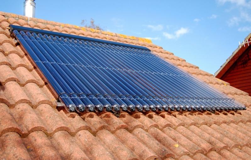 Aquecedores solares no Conjunto Residencial Vila Sabará