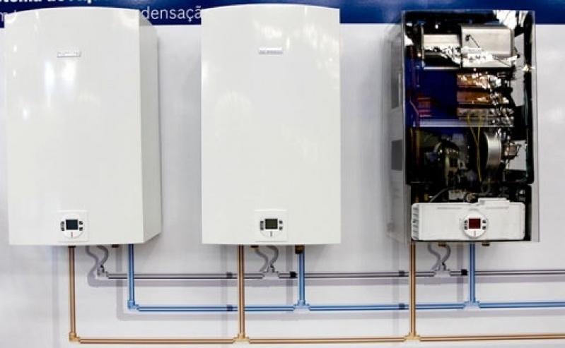 Instalação aquecedor a gás na Bela Aliança