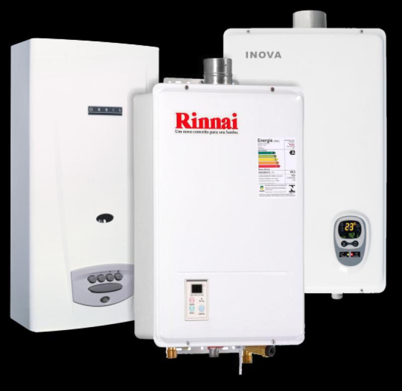 Instalação de aquecedor a gás Rinnai de condomínios na Vila Nova Manchester