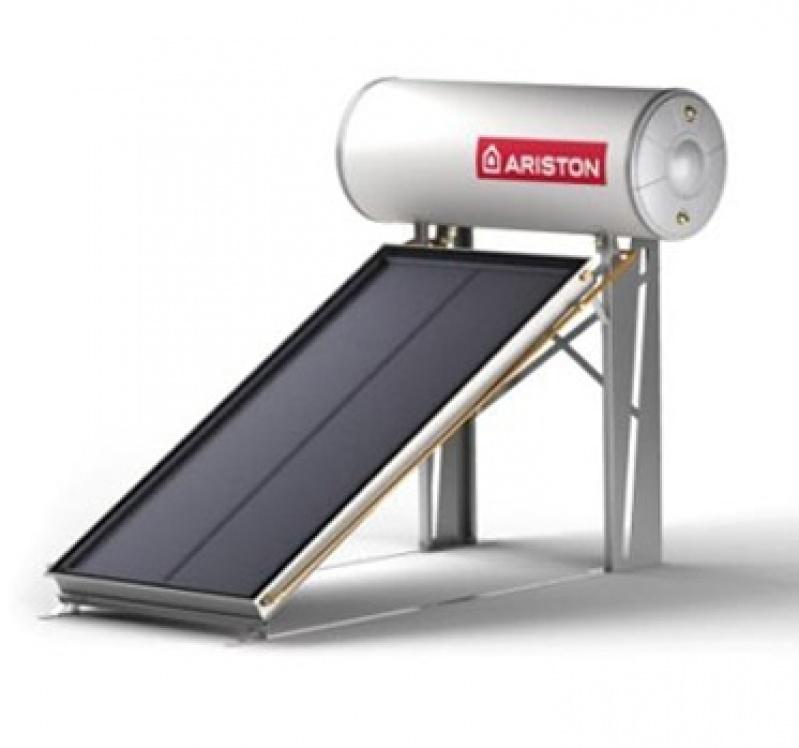 Instalação de aquecedor solar no Jardim dos Bandeirantes