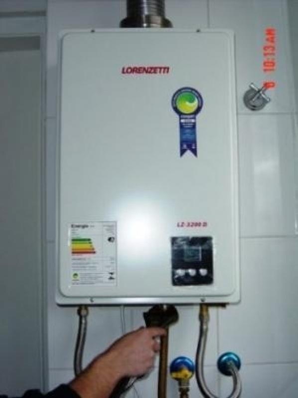 Instalação de aquecedores a gás na Vila Cabral