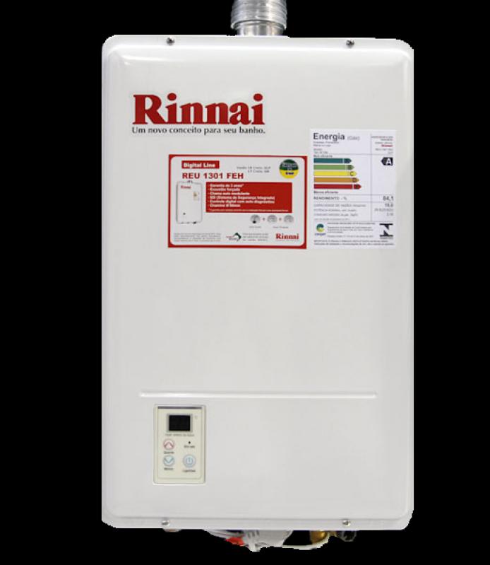 Preços aquecedor a gás Rinnai na Chácara Vista Alegre