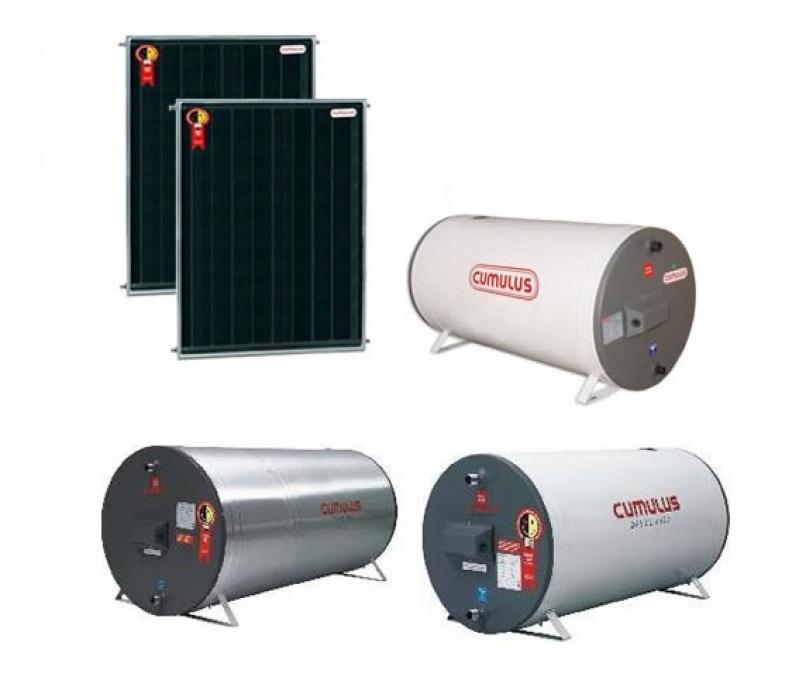 Conserto de aquecedor solar industrial no Jaraguá