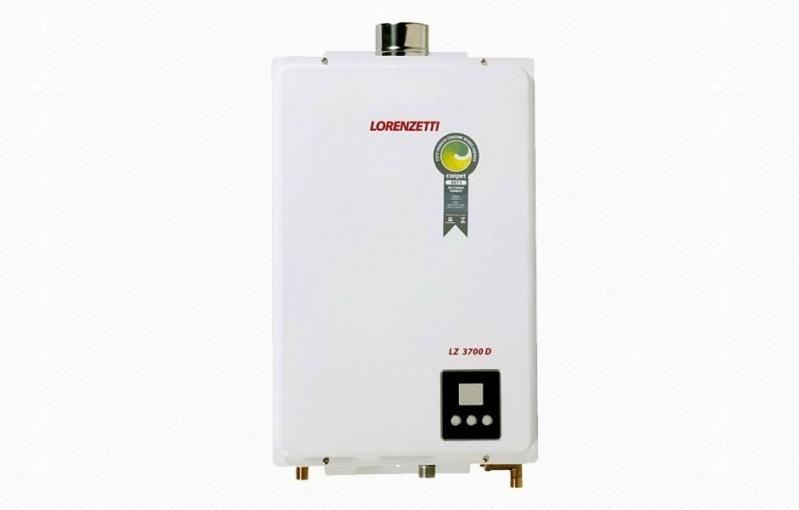 Instalação aquecedor a gás no Conjunto Residencial Ingai