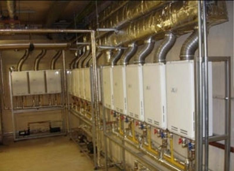 Instalação aquecedor a gás no Jardim Aurélia
