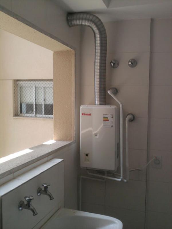 Instalação de aquecedor a gás na Chácara São Sebastião