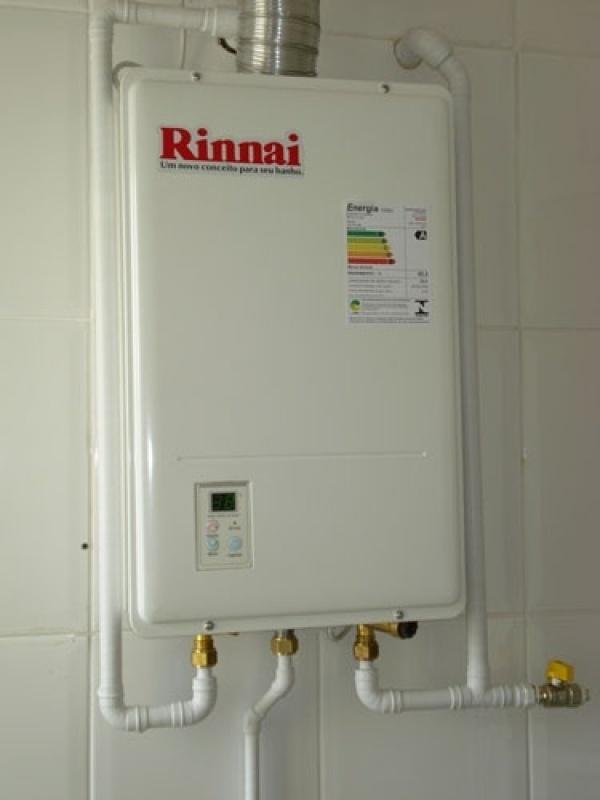 Instalação de aquecedor a gás na Vila Aparecida