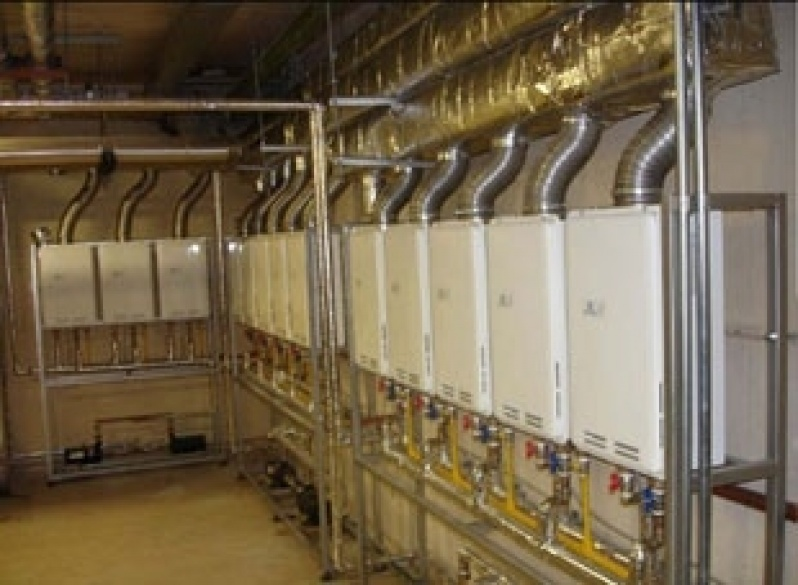 Instalação de aquecedor a gás no Jardim Lugo