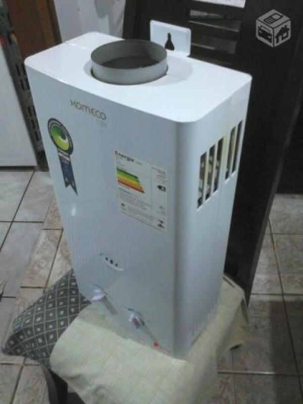 Instalação de aquecedor água a gás na Chácara Figueira Grande