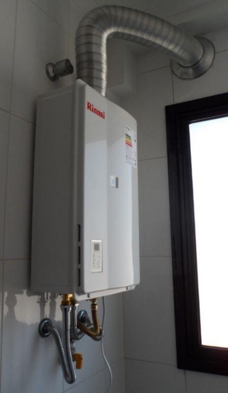 Instalação de aquecedor água a gás no Jardim Silvana