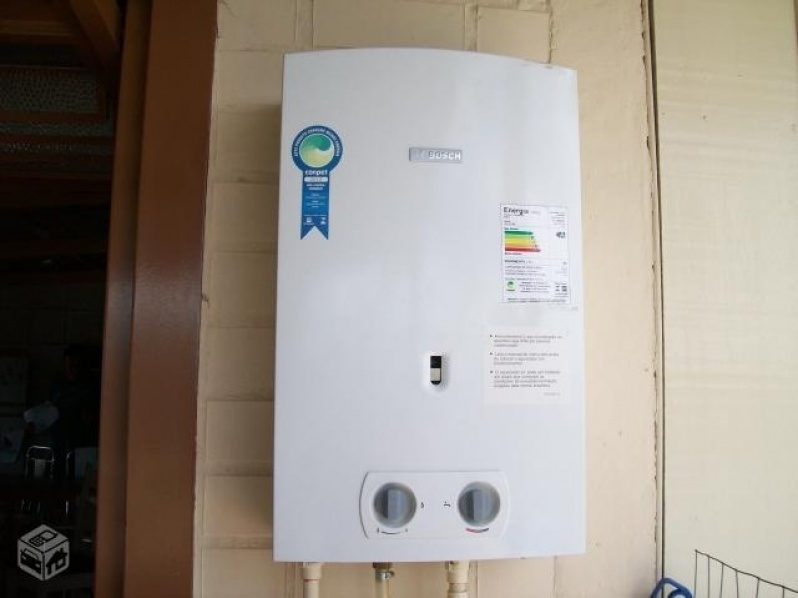 Instalação de aquecedor de loja na Chácara Sonho Azul