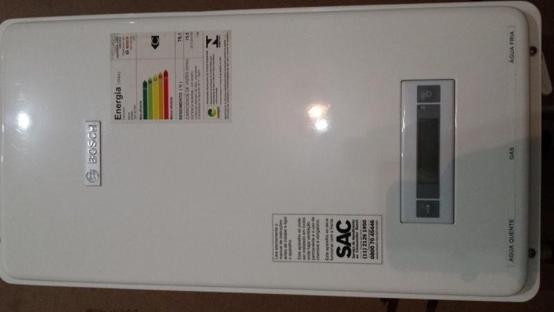 Instalação de aquecedor marca Bosch na Cidade Vargas