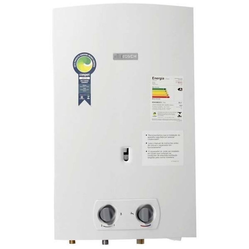 Instalação par aquecedor de gás no Conjunto Residencial Oscar Lima