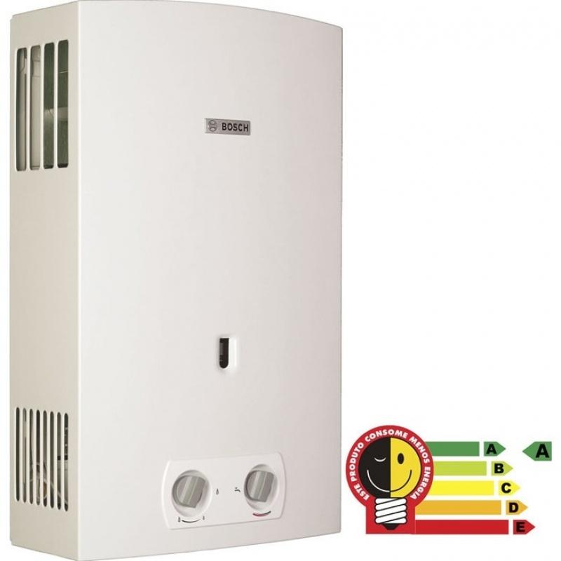 Instalações de aquecedor a gás na Vila Graciosa